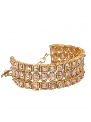Bracelet Stone Work in Gold