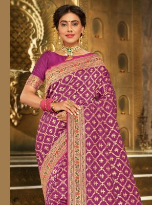 Brocade Embroidered Traditional Saree