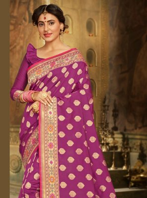 Brocade Purple Bollywood Saree