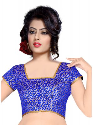 Brocade Weaving Designer Blouse in Blue