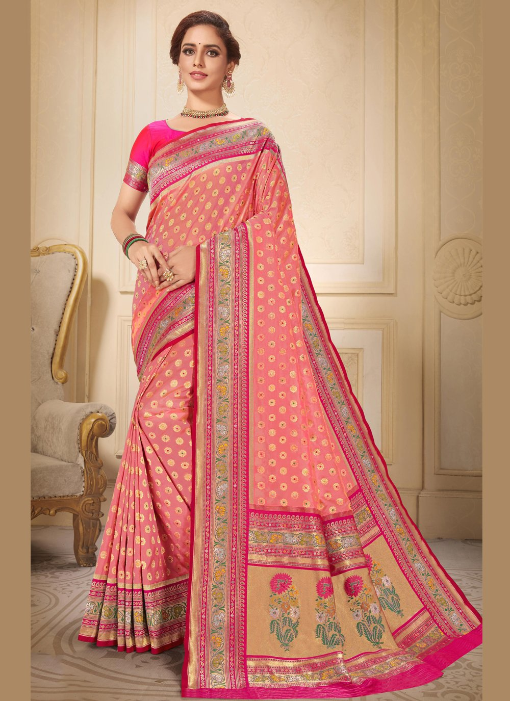 Brocade Wedding Traditional Saree