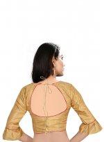 Brown Art Raw Silk Sangeet Designer Blouse