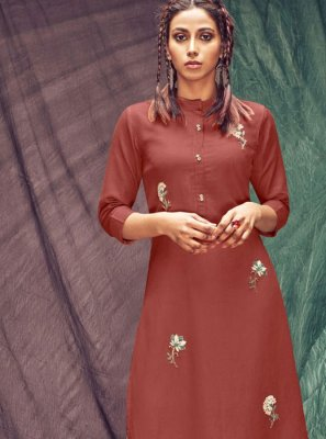 Brown Casual Casual Kurti