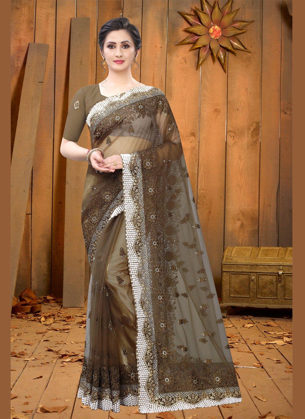 Brown Ceremonial Classic Saree
