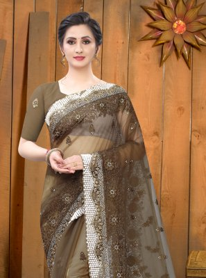 Brown Ceremonial Classic Saree