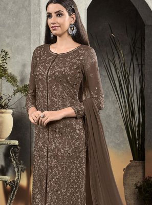 Brown Ceremonial Salwar Suit