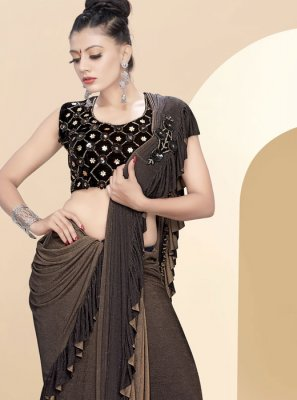 Brown Color Classic Saree