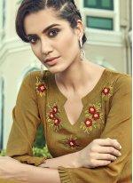 Brown Color Designer Palazzo Salwar Suit