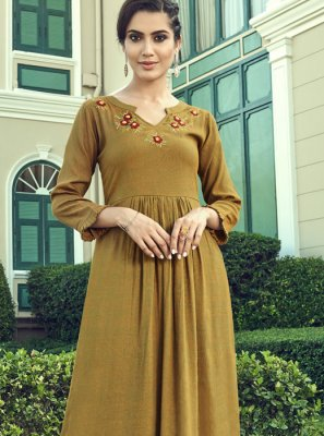 Brown Color Designer Palazzo Salwar Suit