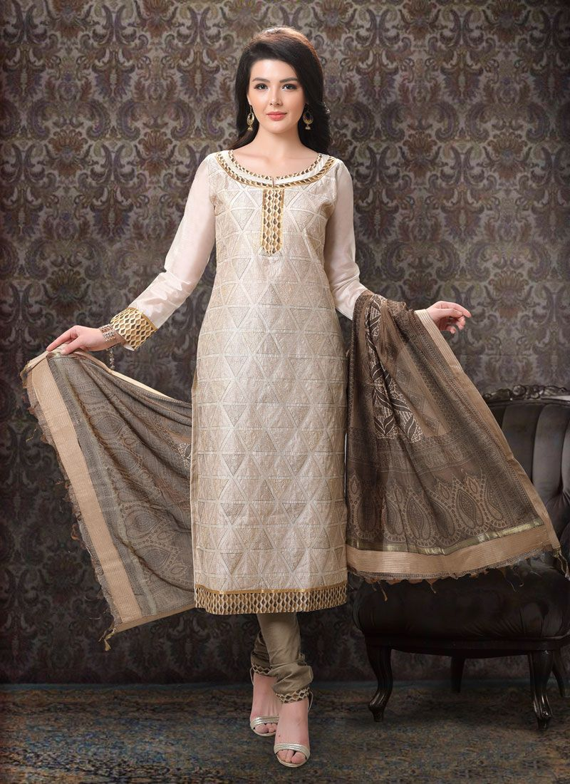 Brown Color Designer Salwar Kameez