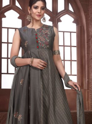 Grey Color Salwar Suit