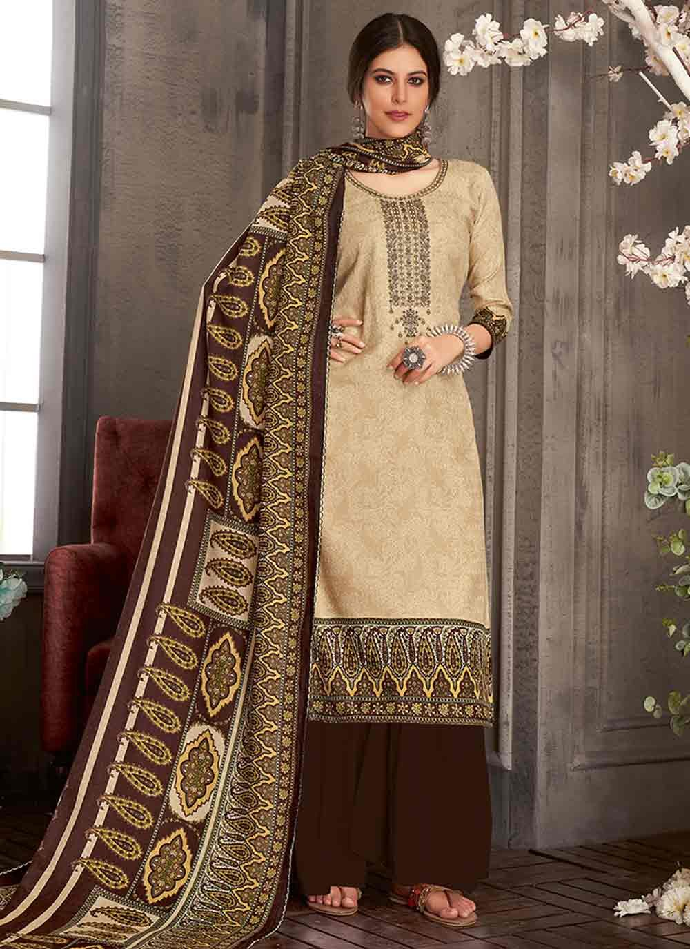 Brown Color Trendy Salwar Suit