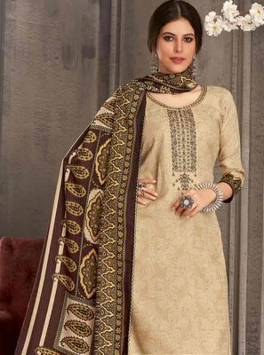 Brown Color Trendy Salwar Suit
