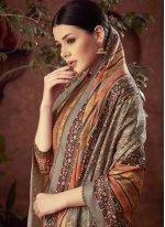 Brown Cotton Diamond Salwar Suit