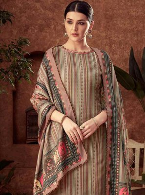 Brown Diamond Party Palazzo Designer Salwar Kameez