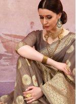 Brown Festival Cotton Designer Traditional Saree