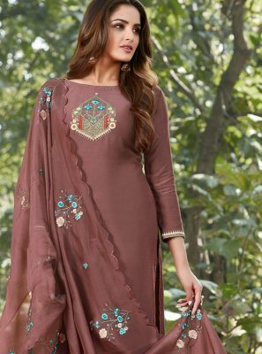 Brown Festival Salwar Suit