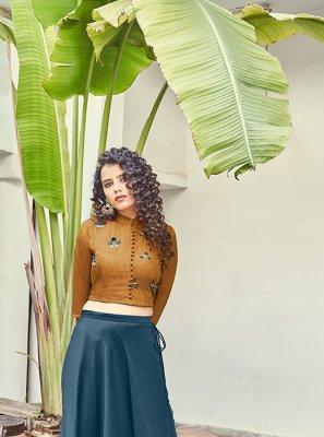 Brown Handwork Designer Lehenga Choli
