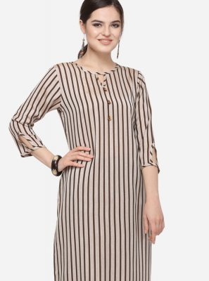 Brown Party Party Wear Kurti
