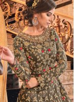 Brown Reception Designer Salwar Suit
