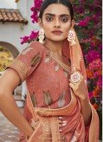 Brown Silk Classic Designer Saree