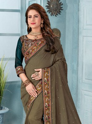 Brown Silk Classic Saree