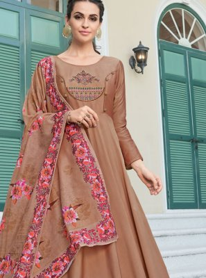 Brown Silk Gown