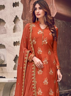 Brown Silk Trendy Salwar Suit