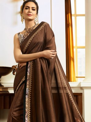 Brown Traditional Saree