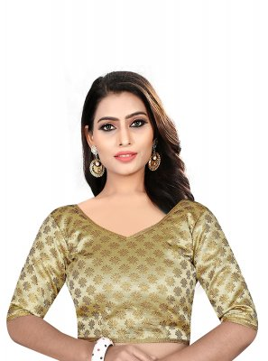 Brown Weaving Brocade Designer Blouse