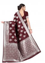Brown Weaving Casual Contemporary Saree