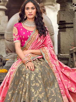 Brown Wedding Designer Lehenga Choli