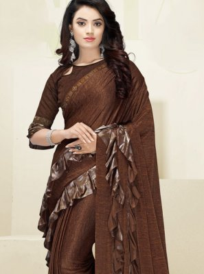 Brown Wedding Designer Saree