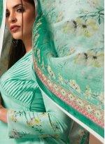 Casual Kurti Embroidered Silk in Green