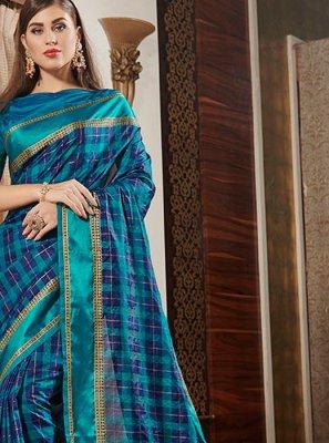 Casual Saree Designer Silk in Blue