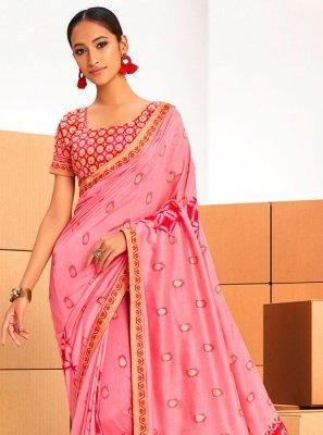 Chanderi Abstract Print Printed Saree