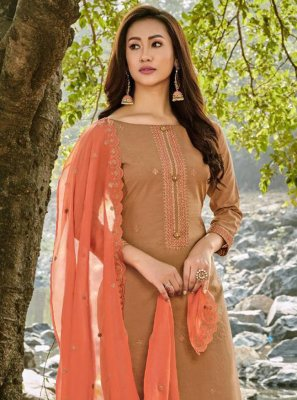 Chanderi Party Designer Palazzo Suit