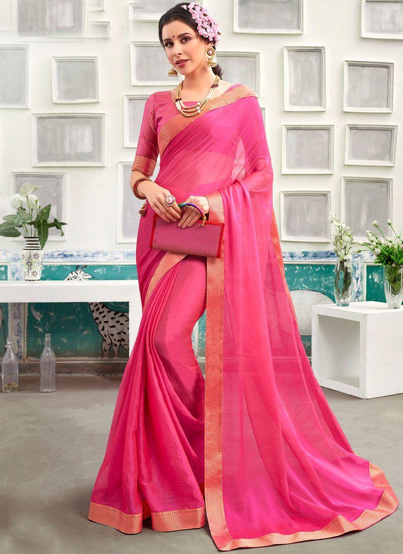 Chanderi Patch Border Classic Designer Saree