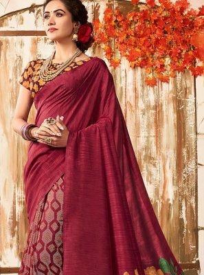 Chanderi Printed Designer Saree