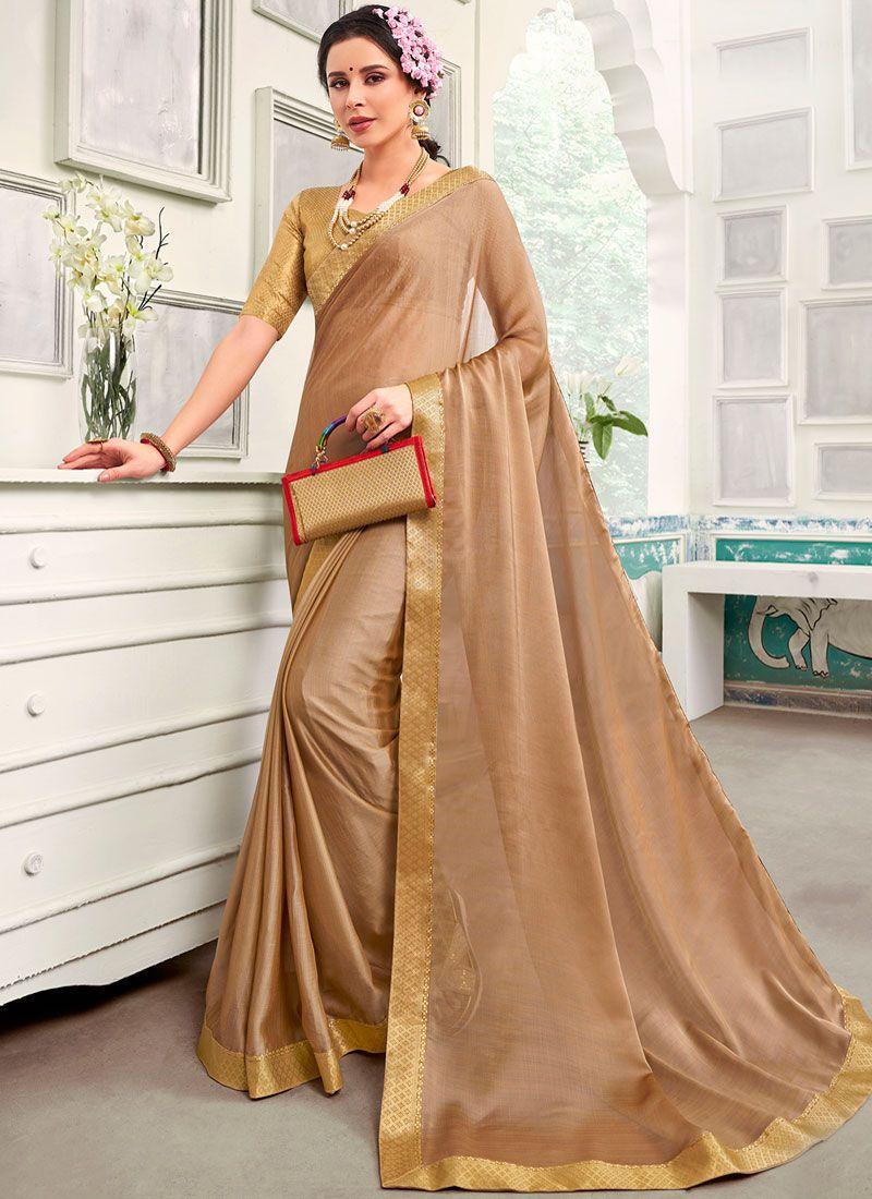 Chanderi Saree in Beige