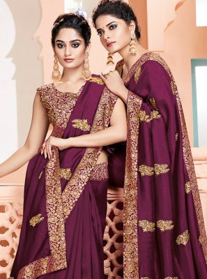 Classic Designer Saree Weaving Art Silk in Purple