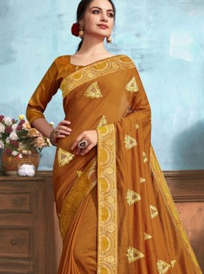 Classic Designer Saree Weaving Silk in Brown