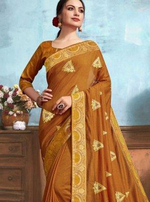 Classic Designer Saree Weaving Silk in Brown