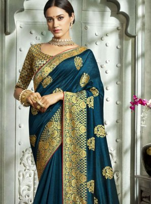 Classic Designer Saree Zari Art Silk in Blue