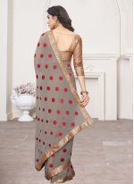 Classic Saree Lace Georgette in Brown