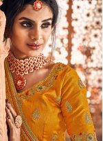 Classic Saree Weaving Banarasi Silk in Yellow