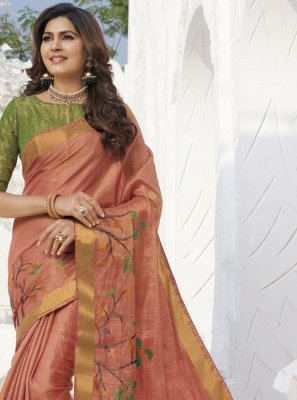 Classic Saree Weaving Silk in Gold