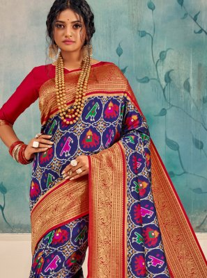 Classic Saree Weaving Silk in Multi Colour
