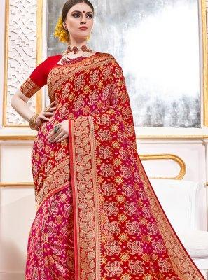 Classic Saree Weaving Viscose in Multi Colour