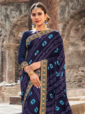 Contemporary Saree For Mehndi